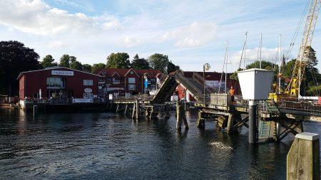 Eckernförde Klappbrücke nach Borby
